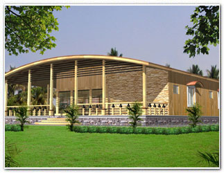 Architectural design woodhouse